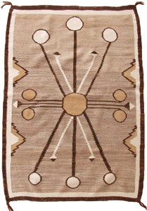 "Navajo Double Saddle Blanket, c. 1910, 49"" x 33.5"""