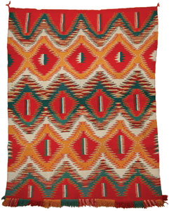 "Navajo Germantown Eyedazzler, c. 1890, 71"" x 57"""
