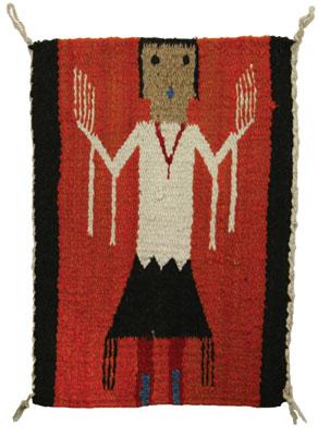 """Navajo Yei Pictorial Sampler, c. 1915, 14.25"""" x 10"""""""