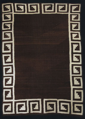 "Navajo Double Saddle Blanket, c. 1900, 50"" x 34"""