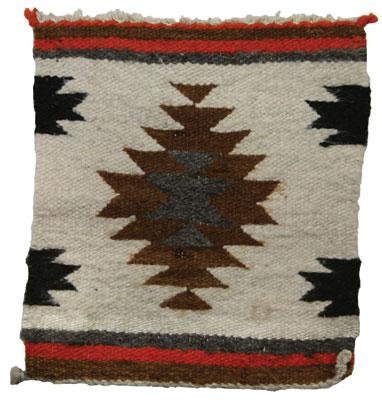 """Navajo Sampler, c. 1900, 12"""" x 10.5"""""""