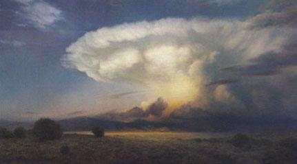 """P.A. Nisbet, Sovereign Sky, oil, 36"""" x 64"""""""