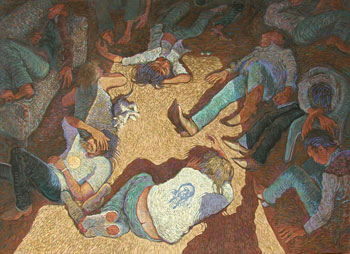 Shonto Begay, Helpless, Acrylic on Canvas, 44