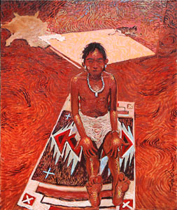 Shonto Begay, Blessed, Acrylic on Canvas 24
