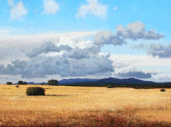 "Jeff Aeling, Afternoon Near Galisteo NM, Oil on Panel, 18"" x 24"""
