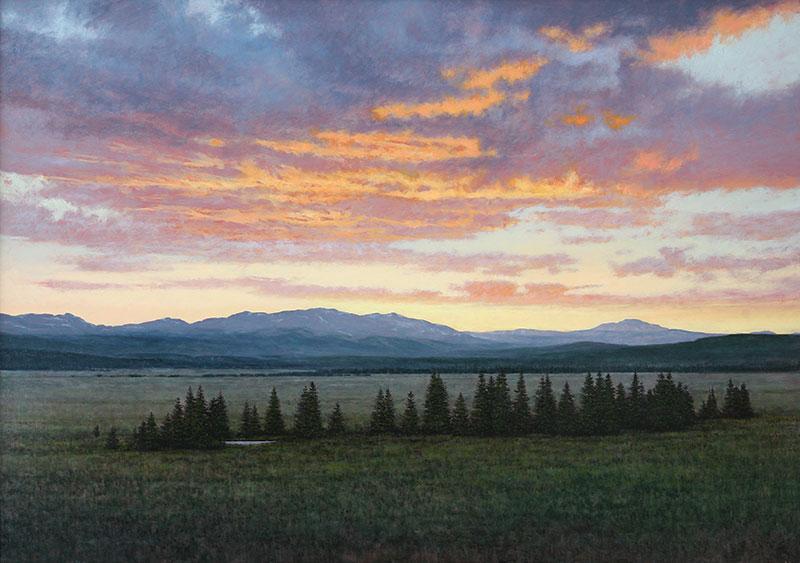 Aeling Sunset Buffalo Peaks