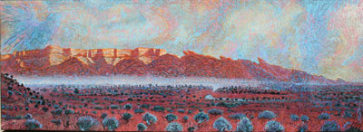 Shonto Begay, Changing of the Guardians, Acrylic on Canvas, 66