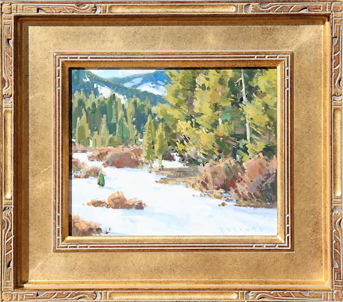 "Josh Elliott, Spring , Oil on Panel, 10"" x 12"""