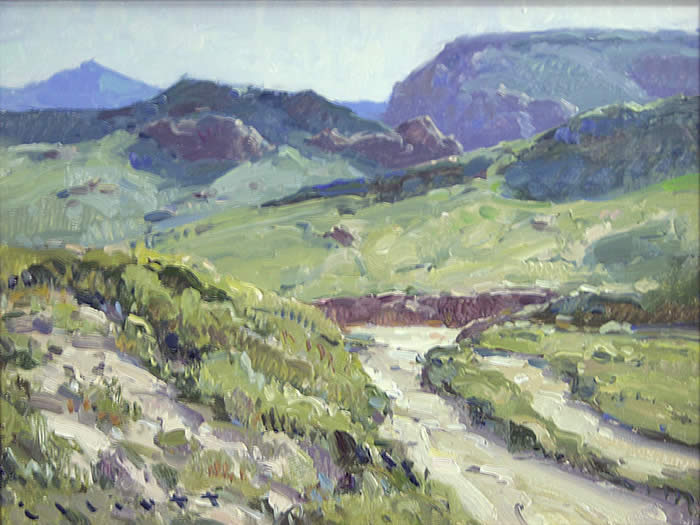 "Josh Elliott, Desert Wash , Oil on Panel, 9 "" x 12 """