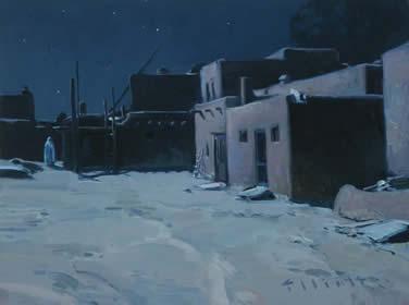 "Josh Elliott, Moonlit, Oil on Panel, 9"" x 12"""
