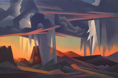 Ed Mell, Storm's Downpour, Oil on Linen, 32