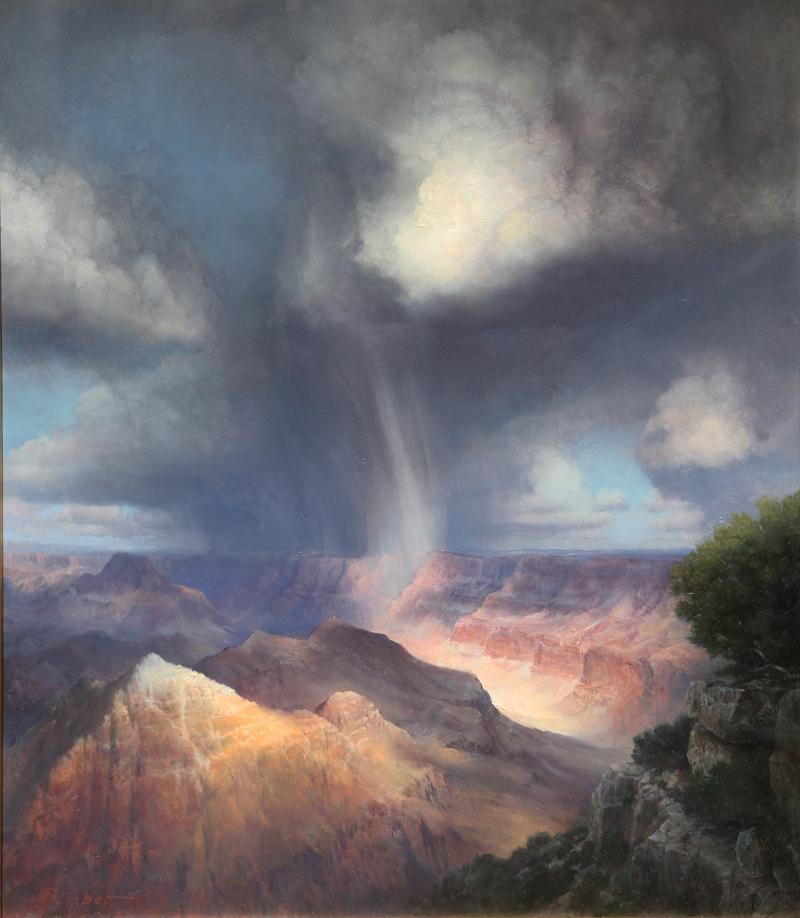 """P.A. Nisbet, Rail Veil, Comanche Point, oil on canvas, 28"""" x 20"""""""