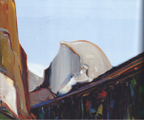 "Gregory Kondos, Half Dome, Yosemite, 2003, oil on canvas, 30""x24"""