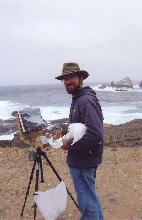 Glenn Dean painting in Carmel