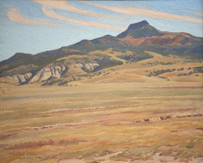 "Maynard Dixon, Picacho Solito, Rio Arriba, New Mexico, (October 1931), oil on canvas board, 16 x 20"""