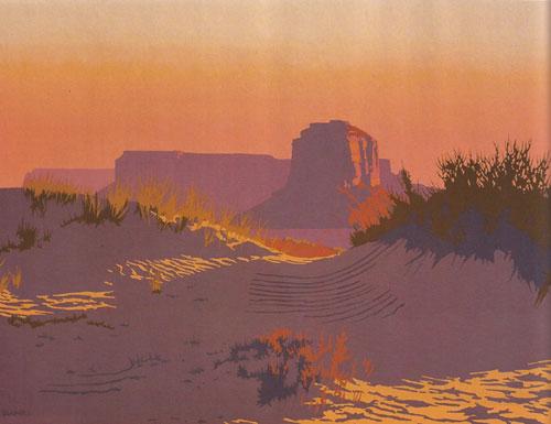 """Billy Schenck, Dawn in the Sand Dunes, oil, 40""""x53"""""""