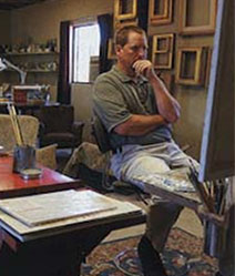 Ray Roberts in his studio