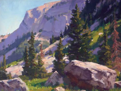 "Gregory Hull, Rocky Mountain High, Oil on Canvas Board, 16 "" x 20"""