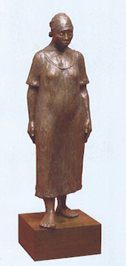 "Shirley Thomson-Smith, The Long Walk Home, Bronze, 46""H"