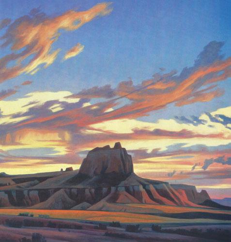 """Ed Mell, Remote Mesa, oil, 30""""x40"""""""