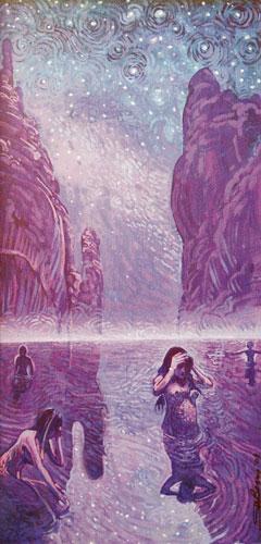 "Shonto Begay, Night Wash, acrylic on canvas, 24""x12"""