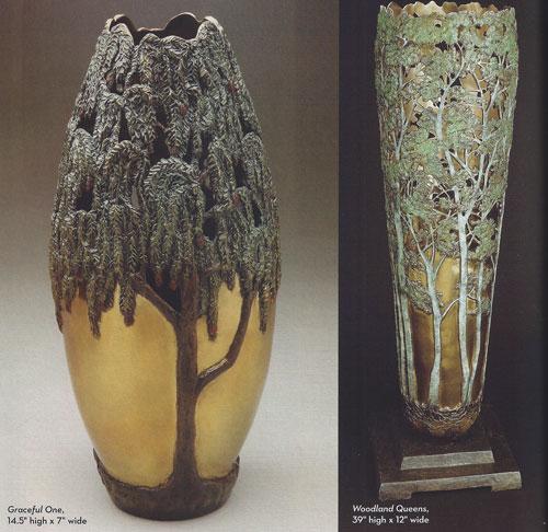 Carol Alleman, Graceful One and Woodland Queens, bronze