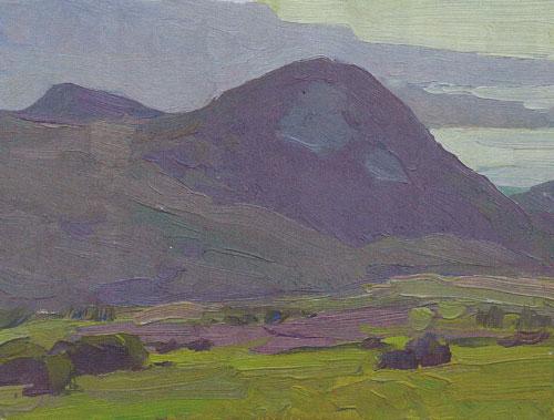 Glenn Dean, Hills Near the Bay, 2010, oil, 6