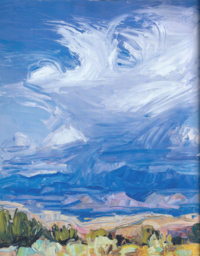 "Louisa McElwain, Exsultate, oil on canvas, 60""x72"""