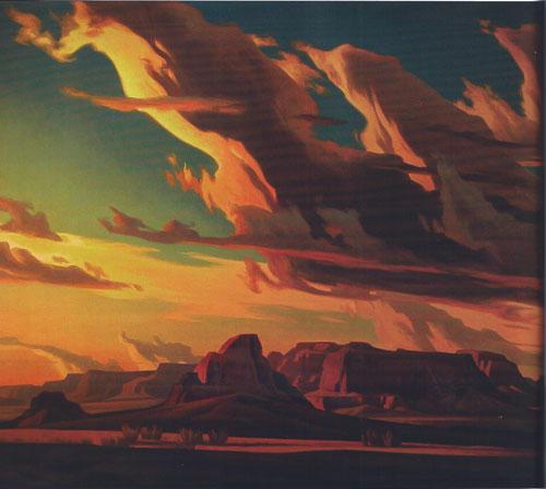 Ed Mell, Kaibito Desert, oil, 40