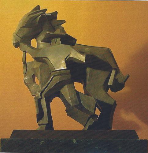 Ed Mell, Sidestepper, bronze, 24