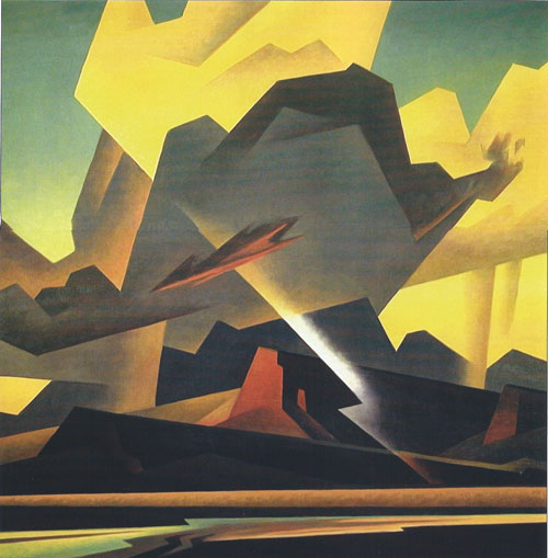 Ed Mell, Cross Cut Storm, oil, 36