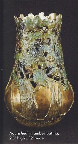 Carol Alleman, Nourished, in amber patina, 20