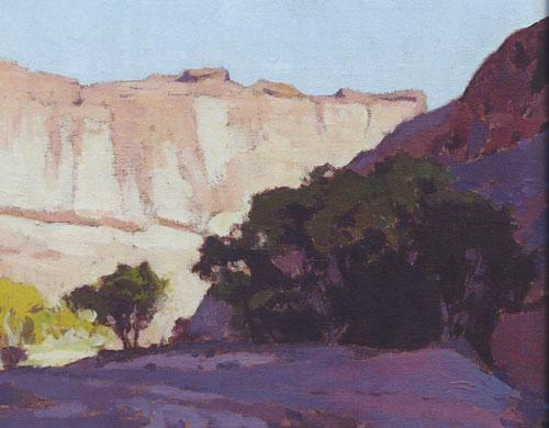 Glenn Dean, Canyon Shadow, 2014, oil, 9