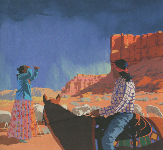"Billy Schenck, Looking for Strays, Oil on Canvas, 36""x 40"", 2011"