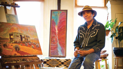 Shonto Begay's paintings reflect his beautiful heritage and the harsh realities associated with being a Navajo.