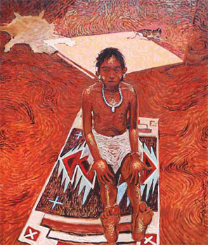 """Shonto Begay, Blessed, Acrylic on Canvas, 24"""" x 20"""""""