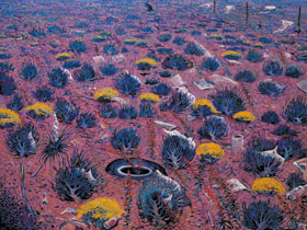 Shonto Begay, Desert Bloom, Acrylic