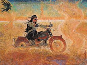 Shonto Begay, Racing the Spirits, Acrylic