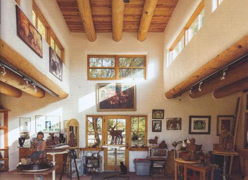 Interior of Star Liana York's Studio