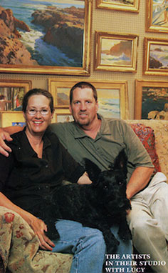 The Roberts in their studio