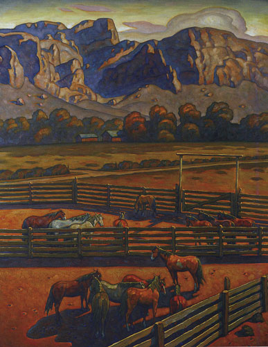 Howard Post, San Tan Valley, oil on canvas, 60