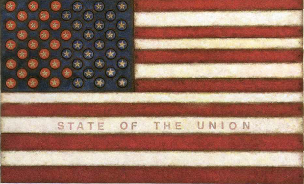 Victoria Roberts State of the Union Assemblage 19x31
