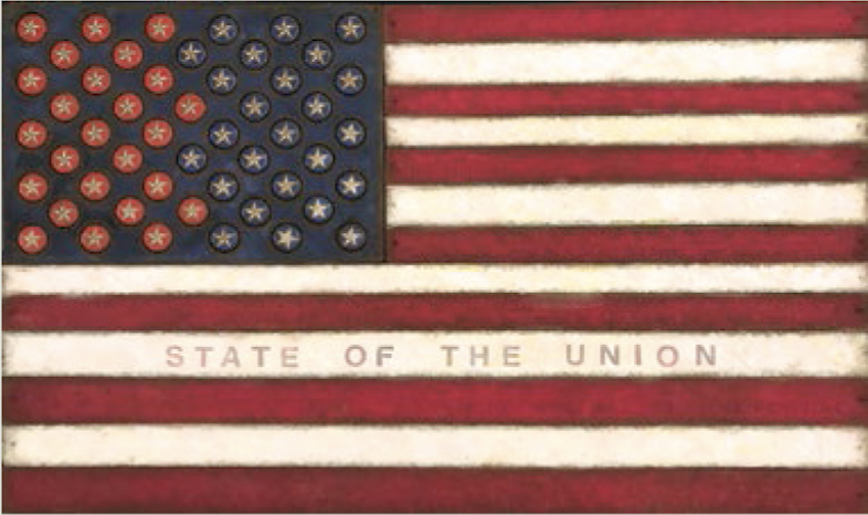 """Victoria Roberts, State of the Union, Mixed Media, 22"""" x 33"""""""