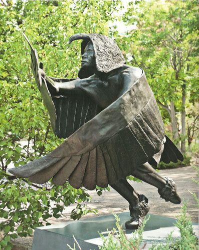 """Michael Naranjo, Eagle Man, bronze, 86.5""""x63""""x46"""""""