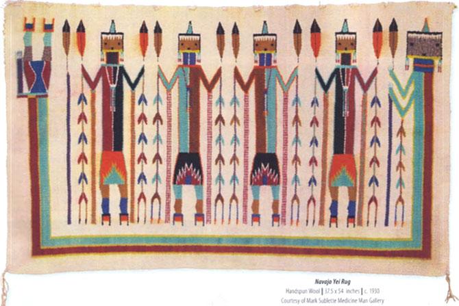 Authentic Navajo Yei Rug