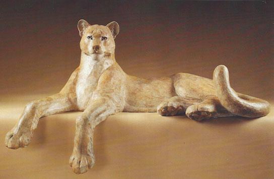"Star Liana York, Cougar, bronze, 48"" x 23"""