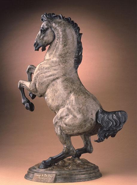 "Star Liana York, Homage to DaVinci, bronze, 36"" x 23"""