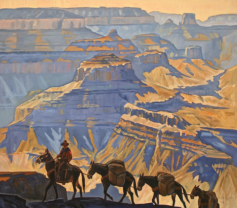 Dennis Ziemienski - Grand Canyon Pack Train