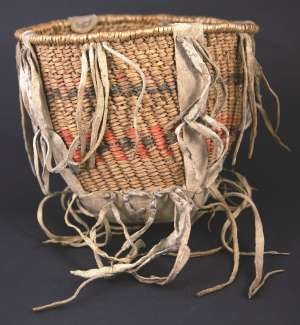 Apache Burden Basket circa 1890, 6 inches tall by 7 inches wide