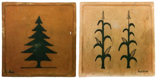 Awa Tsireh (San Ildefonso, 1898-1995) scenery tiles, 5